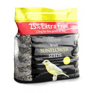 2kg +25% Extra Free Tom Chambers Simply Sunflower Seeds £4.99