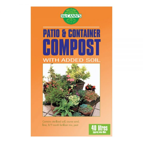 40L Patio & Container Compost with Added Soil 4.50 (2for8)
