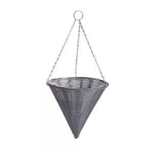Gardman Rattan Dark Grey Hanging Cone 35cm £9.99