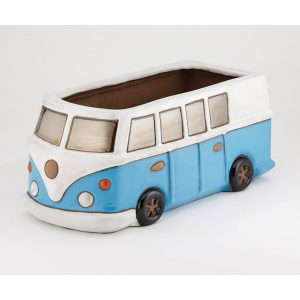 Glazed Blue Camper Van Planter £24.99