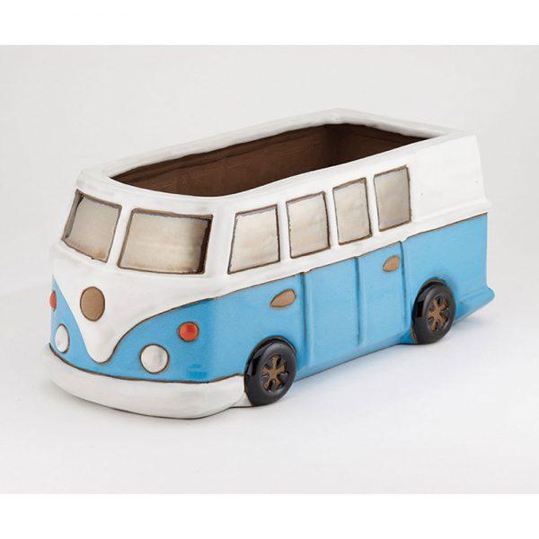 Glazed Blue Camper Van Planter £24.99
