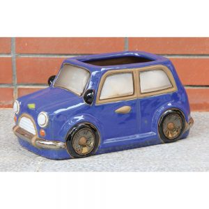 Glazed Car Planter Blue-Red-White £24.99