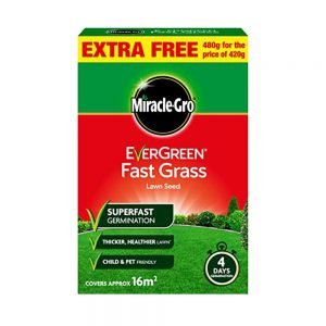 480g Miracle-Gro EverGreen Fast Grass Lawn Seed 16m2