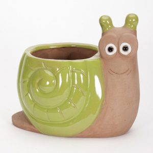 Glazed Snail Planter