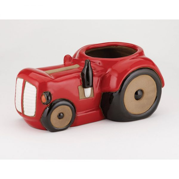 Glazed Tractor Planter