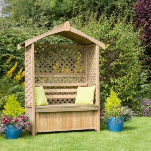 Lincoln Arbour with Storage Box Flatpack