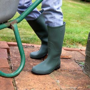 Country and Garden Full Length Wellington Boot Displayed