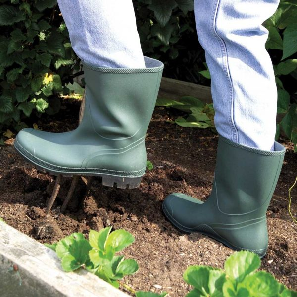 Country and Garden Half Length Wellington Boot Displayed