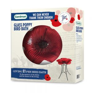 Gardman Bird Bath Poppy