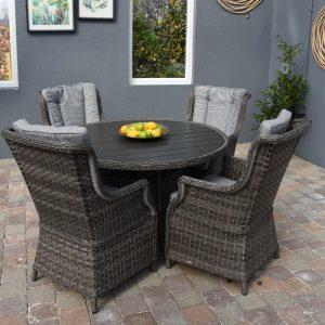 Amalfi 4 Seat Round Ploywood Set