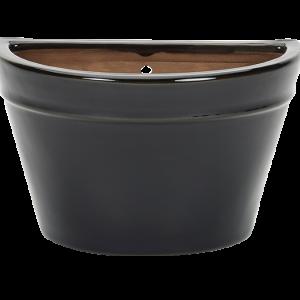 Glazed Wall Bowl Black