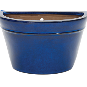 Glazed Wall Bowl Blue