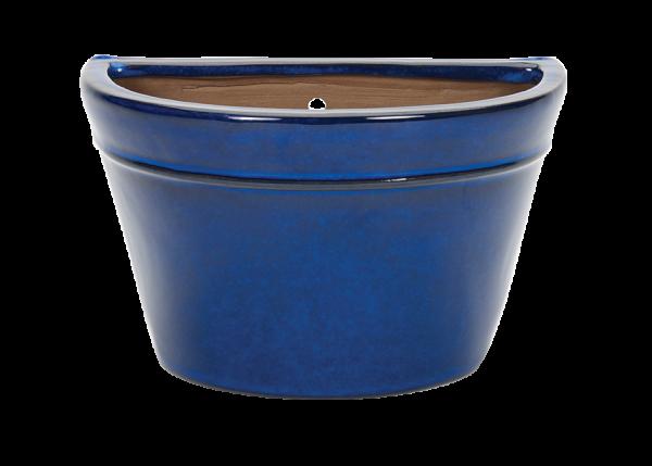 Glazed Wall Bowl Blue