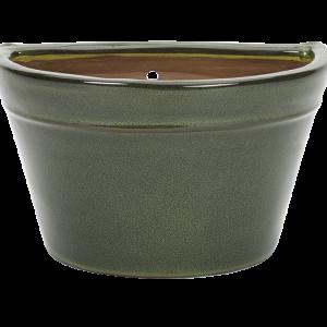 Glazed Wall Bowl Green
