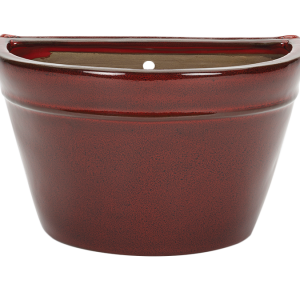 Glazed Wall Bowl Red