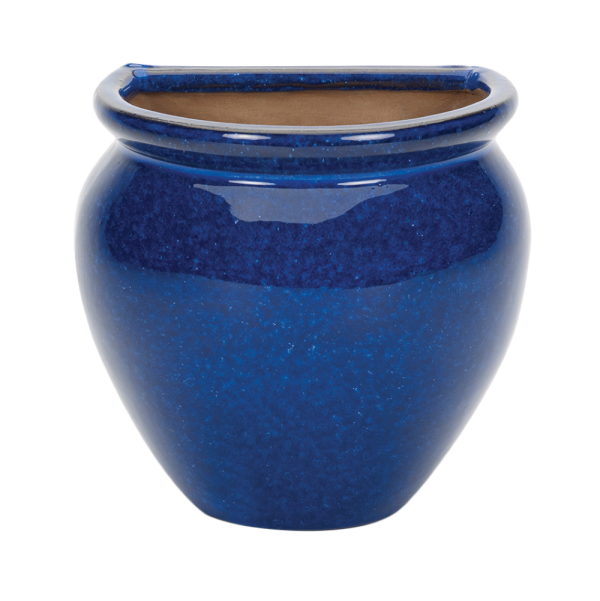 Glazed Wall Jar Blue
