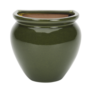 Glazed Wall Jar Green