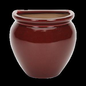 Glazed Wall Jar Red