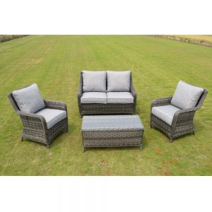Amalfi 2 Seater Coffee Set - Dark Grey (MJT-652)