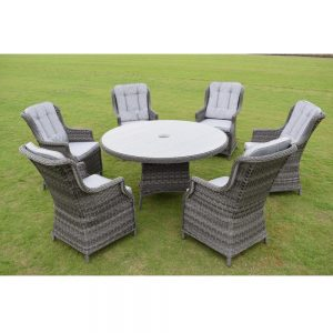 Amalfi 6 Seat Set - Dark Grey (MJT-622)
