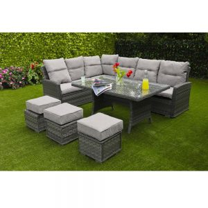Amalfi Casual Sofa Dining Set - Dark Grey (MJT-745)