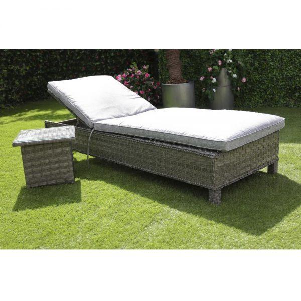 Amalfi Lounger with Side Table - Dark Grey (MJT-632)