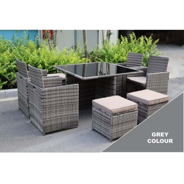 California 4-8 Seater Cube Set (MNK-519-GY)