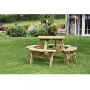 Katie Round Picnic Table Display