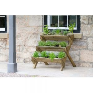 Stepped Herb Planter Flowers